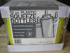 12 oz Yellow Plastic Squeeze Bottles 12 Pack Great For Mustard Arts & Crafts