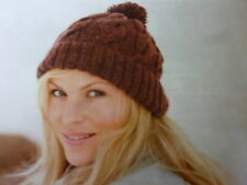 Knitting Pattern For Lady's  Pretty Cable  Hat  Using Just 2 Balls  Of  D.K.Wool