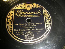 9/1R Bing Crosby - My Heart is taking Lessons - On the Sentimental Side