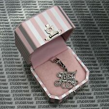 JUICY COUTURE Authentic Silver LOGO JUICY CHARM, New in Tagged Box