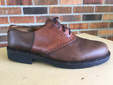 Cole Haan Two-Tone Plain Toe Cambridge Oxford Brown Dress Shoes Size 10.5 M