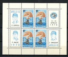 Romania 1970 SG#3743 Space FLight Of Apollo 13 MNH Sheet #A59873