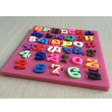 Numbers Letters Alphabet Silicone Fondant Cake Chocolate Candy Mold Mould Tools
