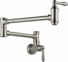 Delta 1177LF-SS Wall Mount Pot Filler Faucet (Stainless)