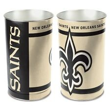 "NEW ORLEANS SAINTS 15""X10.5"" TRASH CAN WASTEBASKET BRAND NEW WINCRAFT"
