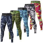 Men's Camo Sports GYM Compression Long Pants Athletic Tights Running Trousers MW