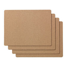 4 X CORK PLACE MAT DINING PlacematSs 42cm (L) Each  Cork Table decoration IKEA