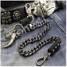 Double Roof Durable Basic Biker Trucker Key Jean Wallet Chain Silver