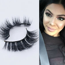 Soft Design 3D 100% Real Mink False Eyelashes Cross Messy Eye Lashes 1 Pair Lady