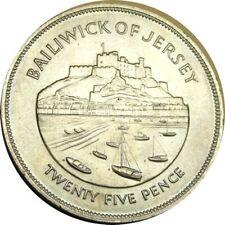 elf Jersey 25 Pence 1977 Jubilee Castle  Ships