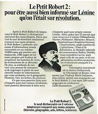 Publicité Advertising 1974 Dictionnaire Le Petit Robert 2