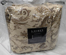 New Ralph Lauren Newbury Port Paisley Beige Cream Full/Queen Comforter and Shams