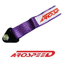 AROSPEED UNIVERSAL PURPLE HIGH STRENGTH RACING TOW STRAP KIT FRONT/REAR B