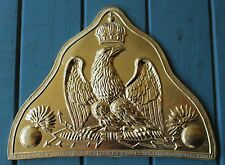French Old Guard Bonnet de Pol Plate (Brass)