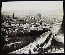 Glass Magic Lantern Slide FLORENCE A GENERAL VIEW C1910 ITALY FIRENZE