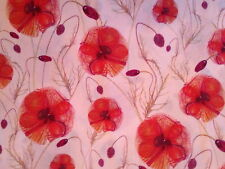 LIBERTY TANA LAWN - HANNAHS POPPY - 2 METERS - 100% COTTON FABRIC -