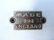 FANTASTIC LITTLE ANTIQUE STYLE MADE IN ENGLAND CAST IRON PLAQUE SIGN