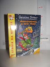 LIBRO Geronimo Stilton INSEGUIMENTO A NEW YORK 1^ed.2011 Storie da ridere