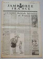 Jamborée France 6 - 21 Aout 1947 ; Journal N° 2 du 07 Août  Scouts P JOUBERT