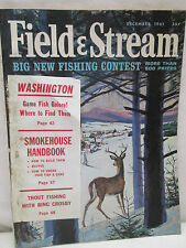 Field & Stream Magazine December 1961 Smokehouse Handbook Recipes Smoke Fish