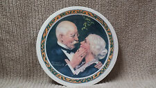 """NORMAN ROCKWELL 1976 """"GOLDEN CHRISTMAS"""" CHRISTMAS PLATE Free Shipping!!"""