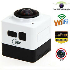 360° Panoramic WiFi Wireless HD 28FPS Mini Cube Sport DV Video Camera Camcorder