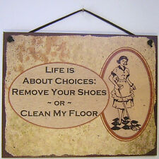 Remove Your Shoes Sign House Welcome Home Clean Floor Vacuum Cleaner Bags Mop