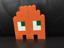 Pac-Man Ghost (Orange) - LEGO Brooch/Pin