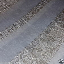 3mts LUXURY ITALIAN WHITE  JACQUARD ORGANZA  FABRIC 150cm
