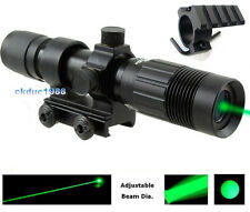 Green Laser Sight Zoom Light Picatinny Weaver rail for Rifle Scope remote switch