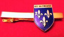 VINTAGE - PINCE / EPINGLE à CRAVATE Dorée - ECUSSON ILE DE FRANCE -