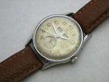 OMEGA 2471/1 COSMIC MOONPHASE TRIPLE DATE S.STEEL ORIGINAL DIAL CIRCA 1940