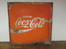 Old Coca Cola Sign #6 Metal --Mexican-Restaurant Bar-Antique-Vintage-Coke-17x17