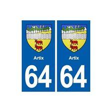 64 Artix blason autocollant plaque stickers ville droits