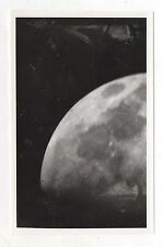 PHOTO ANCIENNE Lune Astronomie Astre Moon Satellite Vintage - Vers 1970