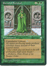 MAGIC THE GATHERING ICE AGE GREEN RITUAL OF SUBDUAL