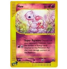 Mew 55/165 EX-Expedition Ultra Rare Star Reverse Holo Foil Pokemon Card (Cute!)