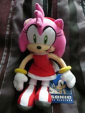 "Sega Official Sonic The Hedgehog GE 10"" Plush toy figure Amy Rose red dressNWT"