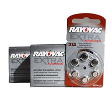 120 Rayovac Extra Hearing Aid Battery Size 312 Super Fresh Cells Expire 2019