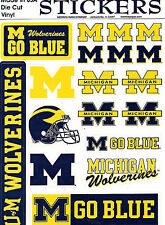 Michigan Wolverines Decal Stickers Vinyl Cling 18 Removable NCAA Licensed