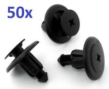 50x Subaru 8mm Plastic Rivet Panel Trim Clips Bumper PUSH-IN Type