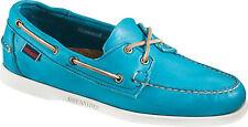 Sebago Mens Horween Docksides Bright Blue Leather Boat Shoes 11.5 D M US