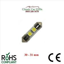 30 - 31 MM FESTOON WARM WHITE TUBE LED BULB GLB269 C5W CLASSIC CAR MOTORCYCLE