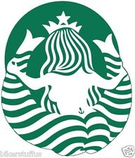STARBUCKS LOGO BEHIND LOOK BUMPER STICKER HARD HAT STICKER HELMET STICKER