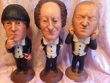 Vintage 1980 Three Stooges Esco Norman Mauer Chalkware Statues Larry Moe Curly