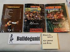 Lot of 3 Donkey Kong Country 3, 2, & 1 Manual Only  SNES Super Nintendo  DKC