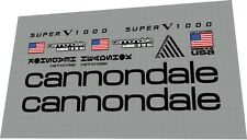 Cannondale Super V 1000  Frame Decal set