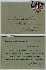 RE DI MAGGIO-1L(540)+2L(552)-Cartolina esattoriale Rimini- Milano 12.6.1946