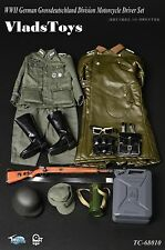 ToysCity 1/6 WWII German Grossdeutschland Division Motorcycle Driver Set TC-6810