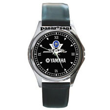 NEW YAMAHA V-STAR 1300 Custom Round Metal Leather Men's Watch Watches